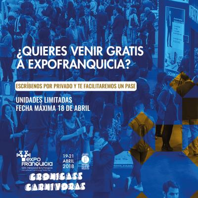 Cronicass Carnivoras asistirá a Expofranquicias 2018